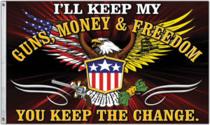 Flags Guns Money And Freedom Flag