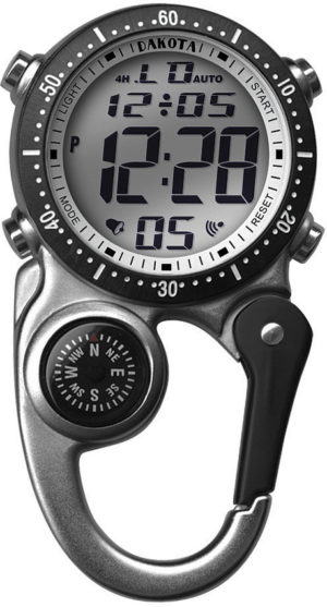 Dakota Digi Clip Watch Silver