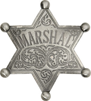 Badges Of The Old West Marshal Badge