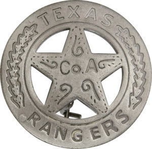 Badges Of The Old West Texas Rangers Badge