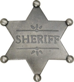 Badges Of The Old West Sheriff Badge