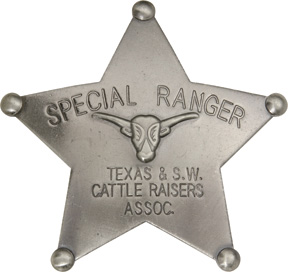 Badges Of The Old West Special Ranger Badge