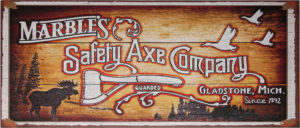 Marbles Safety Axe Sign