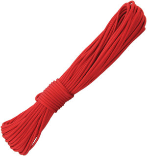 Outdoor Element Fire-Starting Paracord Red