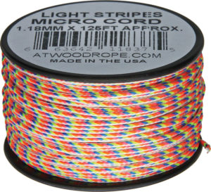 Atwood Rope MFG Micro Cord 125ft Light Stripes