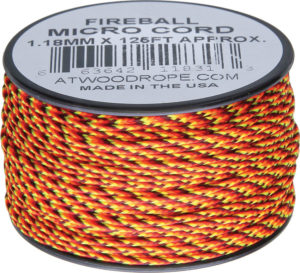 Atwood Rope MFG Micro Cord 125ft Fireball
