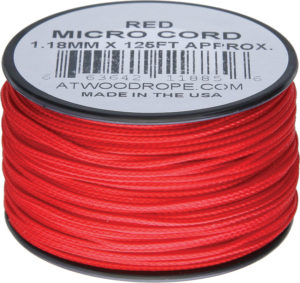 Atwood Rope MFG Micro Cord 125ft Red