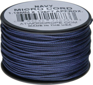 Atwood Rope MFG Micro Cord 125ft Navy