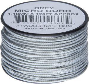 Atwood Rope MFG Micro Cord 125ft Gray