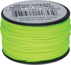 Atwood Rope MFG Micro Cord 125ft Neon Green