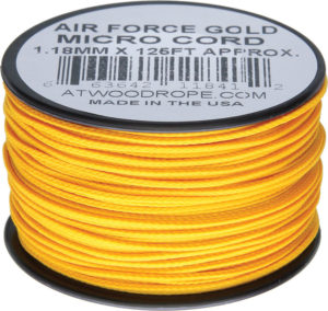 Atwood Rope MFG Micro Cord 125ft Air Force Gol