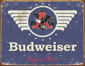 Tin Signs Budweiser 1936 Weathered