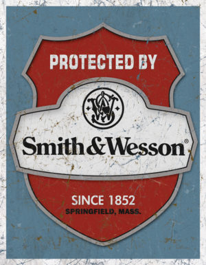 Tin Signs Protected By S&W