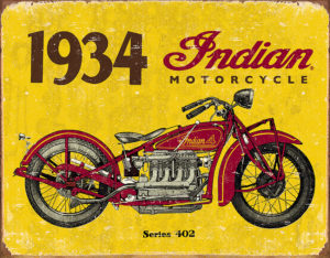 Tin Signs 1934 Indian Motorcycles