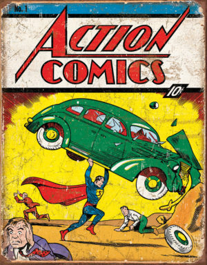 Tin Signs Action Comics #1 Cover