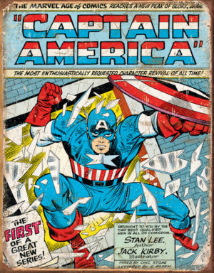 Tin Signs Captain America Cover